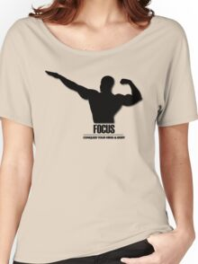 Focus Conquer your Mind and Body v2 Women's Relaxed Fit T-Shirt
