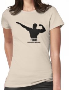 Focus Conquer your Mind and Body v2 Womens Fitted T-Shirt