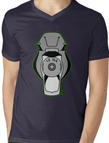 Mallard Down Logo Green Mens V-Neck T-Shirt