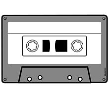Cassette Tape - Vintage Retro Audio Photographic Print