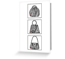 3 bag doodles Greeting Card