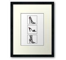 3 shoe doodles Framed Print