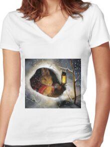 Little Traveler Women's Fitted V-Neck T-Shirt