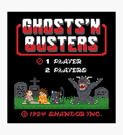 Ghosts 'N Busters Photographic Print