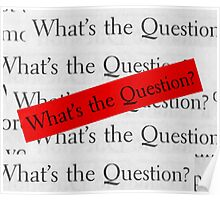 WHAT´S THE QUESTION? Poster