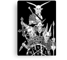 The Infernal Army Black Version Canvas Print