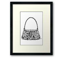 Handbag Doodle Framed Print