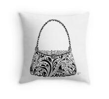 Handbag Doodle Throw Pillow