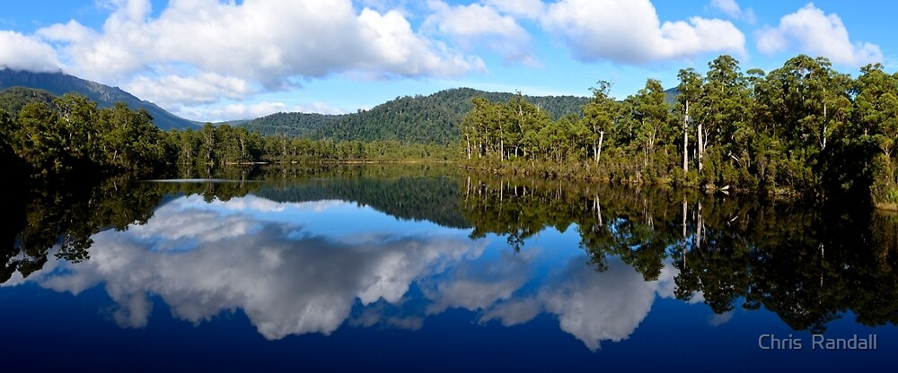 Reflections on Lake Rosebery by Chris  Randall