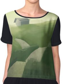 House on a Hill Chiffon Top