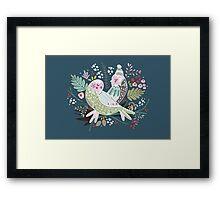 Holiday Birds Love II Framed Print
