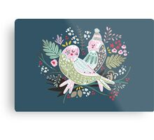 Holiday Birds Love II Metal Print