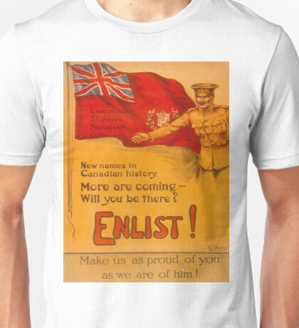 Vintage poster - Canadian Recruiting Unisex T-Shirt