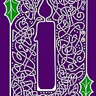 Celtic Knotwork Candle - Purple by arkadyrose