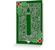 Celtic Knotwork Candle - Green Greeting Card