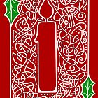 Celtic Knotwork Candle - Red by arkadyrose