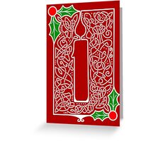 Celtic Knotwork Candle - Red Greeting Card