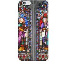 Stained Glass Window- Two Saints iPhone Case/Skin