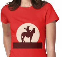 Red Sunset Womens Fitted T-Shirt