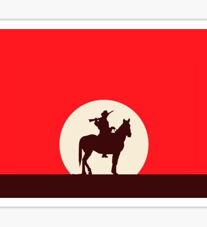 Red Sunset Sticker
