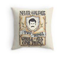 Ron Swanson - Whole-Ass One Thing Throw Pillow