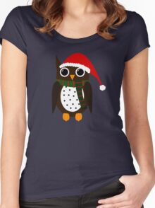 Winter Owl Women's Fitted Scoop T-Shirt