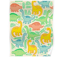 Dinosaur party Poster