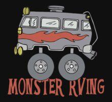 Monster Camping RVing Kids Tee