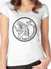 Forever Fighting, Snake & Dagger Tattoo  Women's Fitted Scoop T-Shirt
