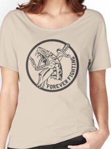 Forever Fighting, Snake & Dagger Tattoo  Women's Relaxed Fit T-Shirt