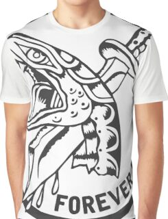 Forever Fighting, Snake & Dagger Tattoo  Graphic T-Shirt