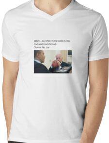 Joe Biden Funny Meme Obama T-Shirt Mens V-Neck T-Shirt