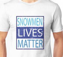 Snowmen Lives Matter Parody Funny Humorous Family Matching PJ's Unisex T-Shirt