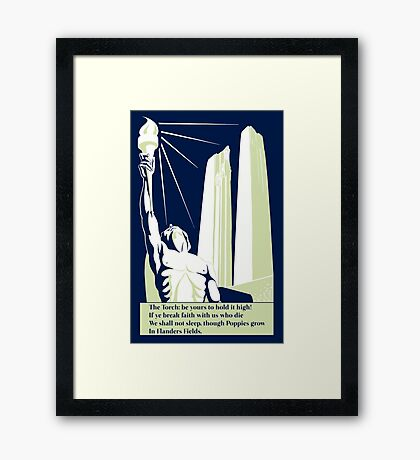 The torch, in Flanders fields Framed Print