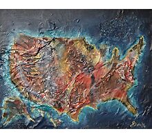 United States Map of America Photographic Print