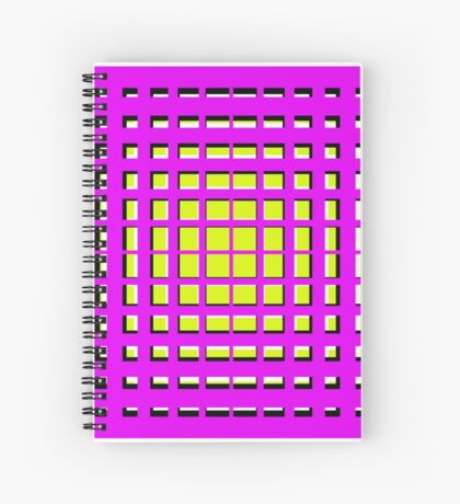 Pink Polynomial Spiral Notebook