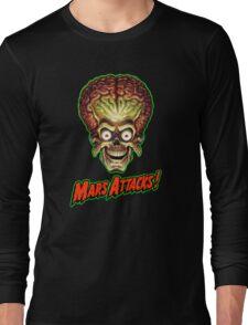 Mars Attacks Alien Head Long Sleeve T-Shirt