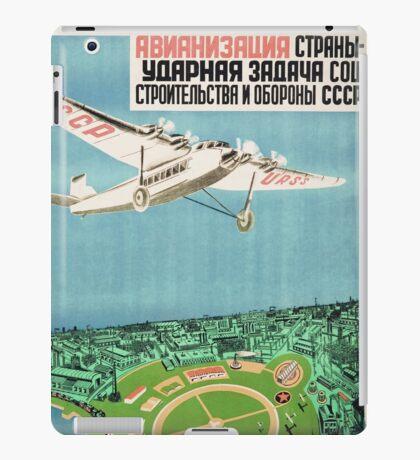 Agitational soviet poster iPad Case/Skin