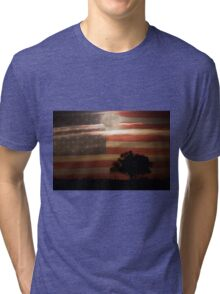 American Country Supermoon Tri-blend T-Shirt