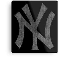°BASEBALL° NY Yankees B&W Logo Metal Print