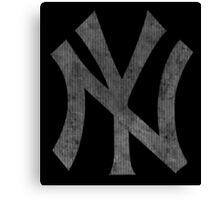 °BASEBALL° NY Yankees B&W Logo Canvas Print
