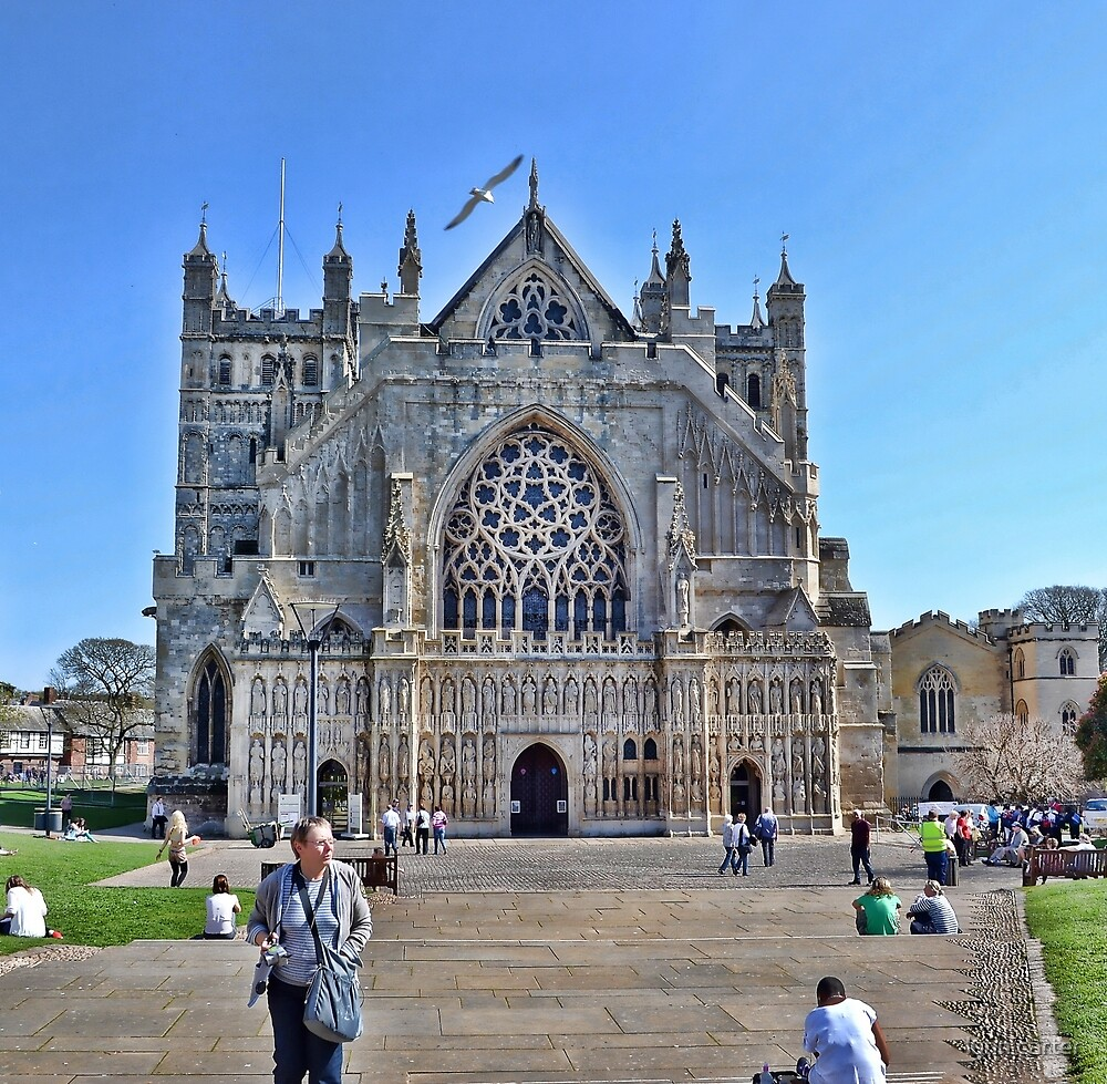 Exeter Cathedral Devon. UK by lynn carter