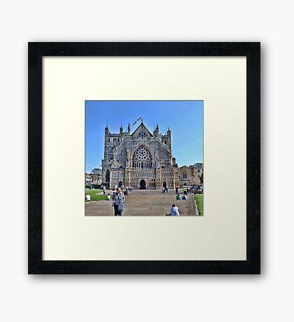 Exeter Cathedral Devon. UK Framed Print