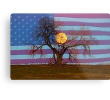 Patriotic Supermoon Tree Metal Print