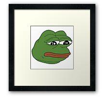 Pepe :( feelsbadman Framed Print