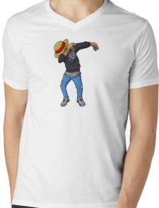 Luffy is Dab Mens V-Neck T-Shirt