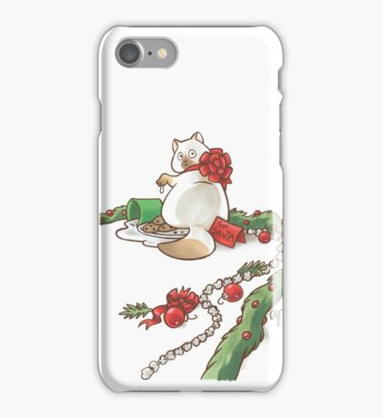 For Santa Cat 2 iPhone Case/Skin