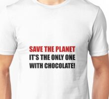 Save Planet Chocolate Unisex T-Shirt