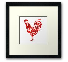 Abstract geometric background rooster Framed Print
