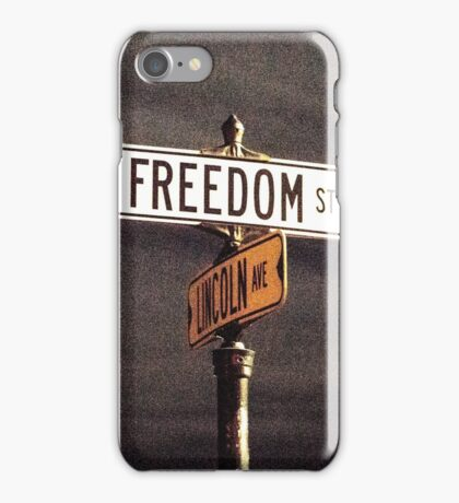Freedom Street and Lincoln Avenue iPhone Case/Skin